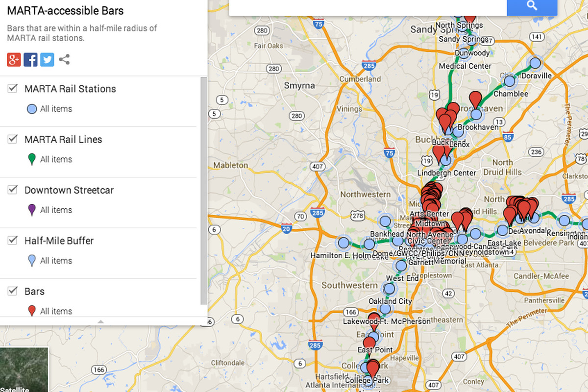 Marta Atlanta Map How to Drink Your Way Across Atlanta, Riding MARTA   Eater Atlanta Marta Atlanta Map