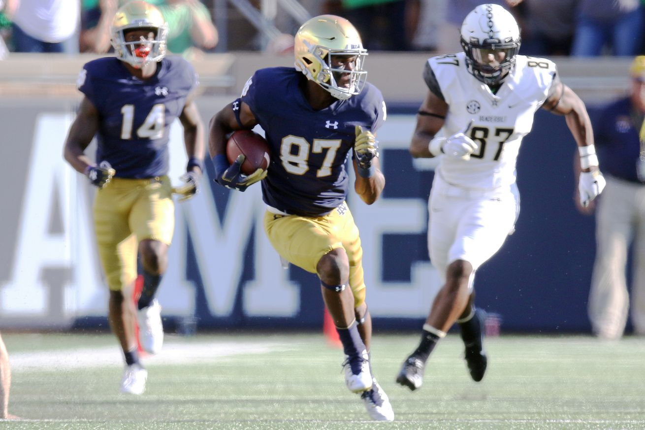 Michael Young's injury will force youth movement at WR for Notre Dame