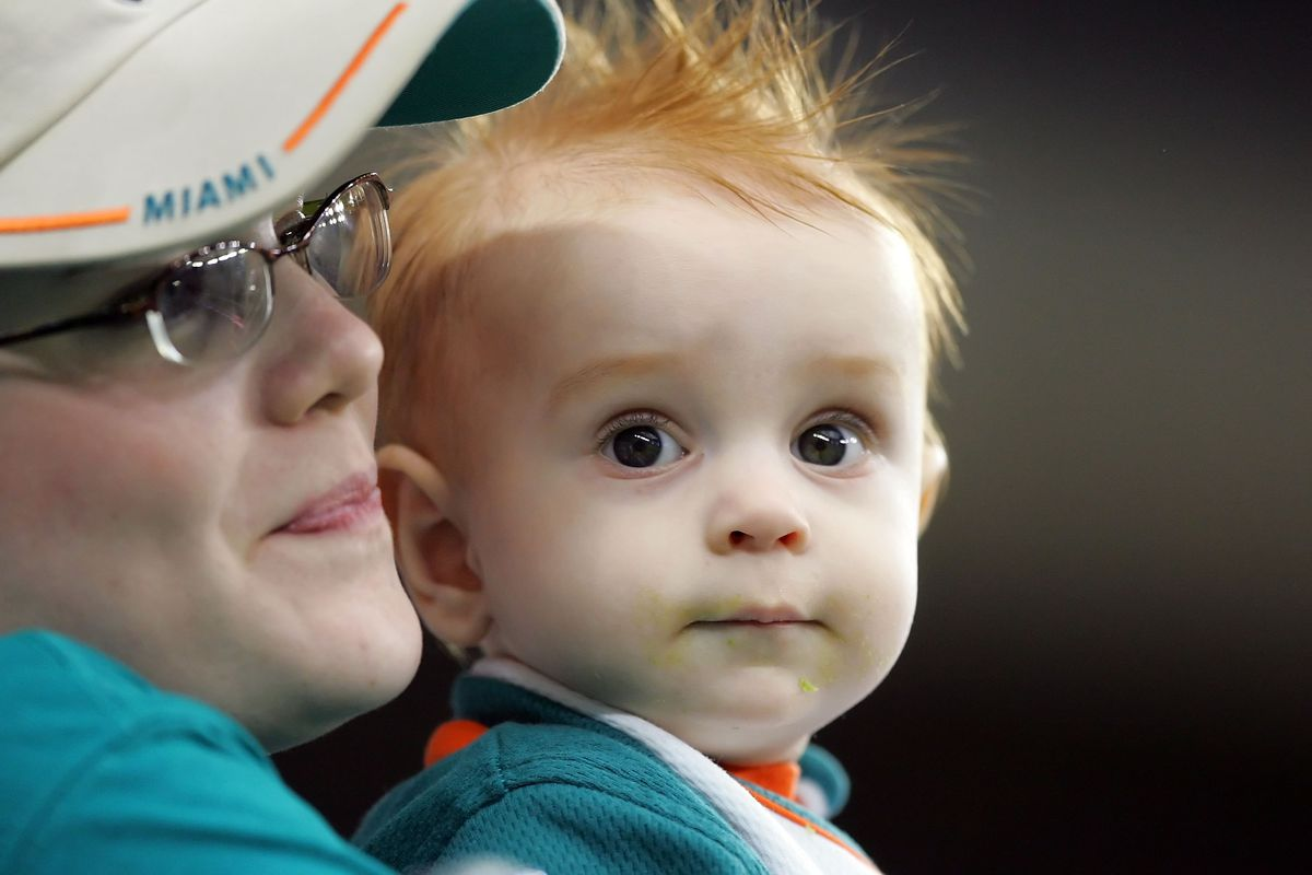 The littlest and cutest Dolphins fan!