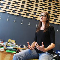 Salt Lake attorney Nicole Lowe talks about her work with homeless youths at Volunteers of America's Youth Resource Center in Salt Lake City on Thursday, Sept. 15, 2016.
