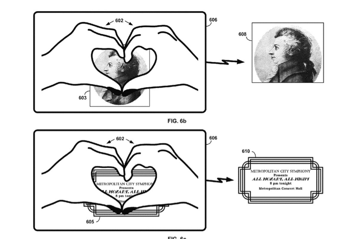 Google hand gesture patents