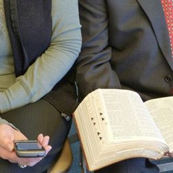 Many church members have varying opinions regarding the pros and cons of using digital scriptures and the traditional print scriptures.