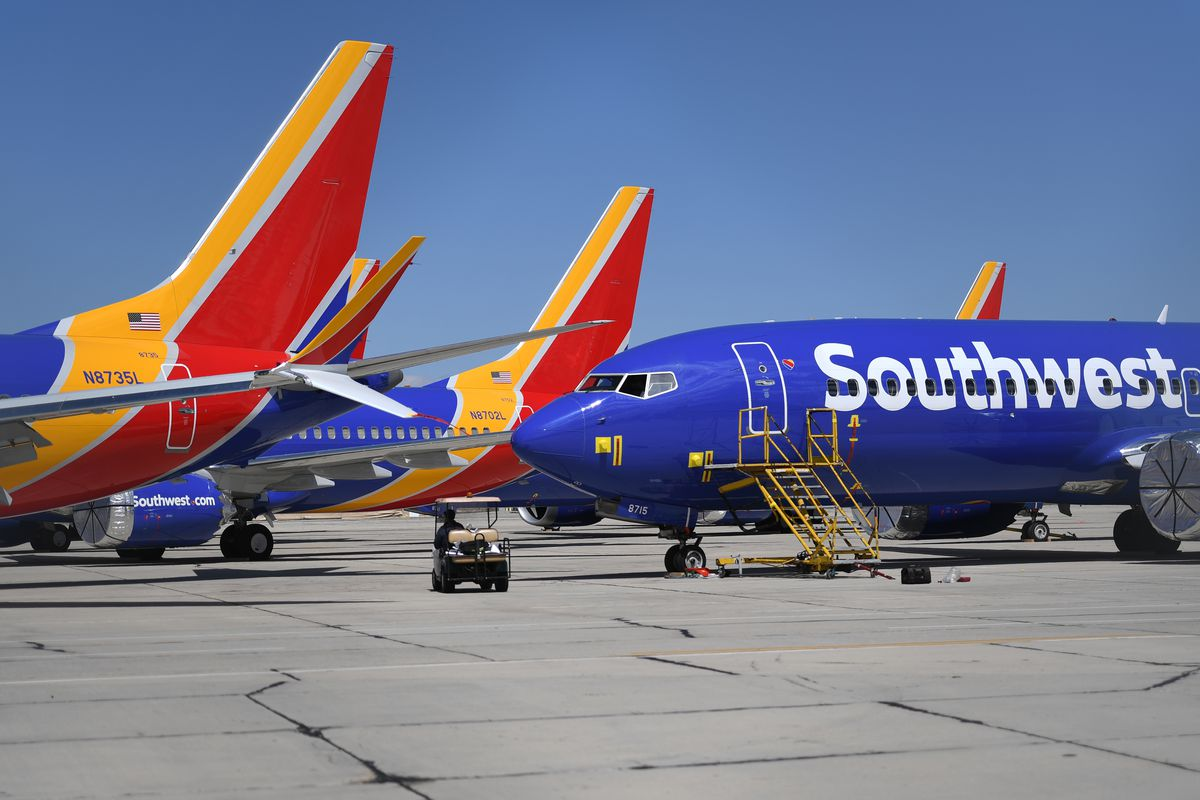 Southwest Airlines Boeing 737 Max aircrafts