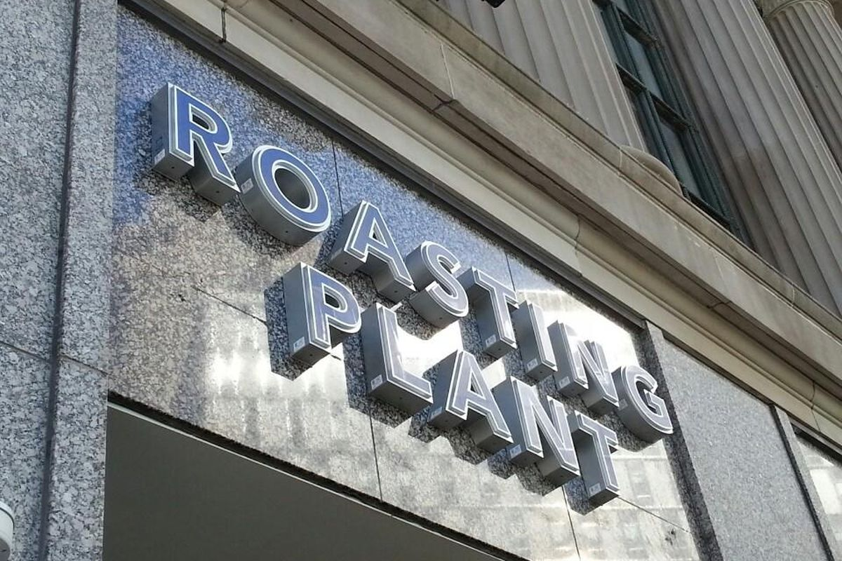 The Roasting Plant is located across from Campus Martius.