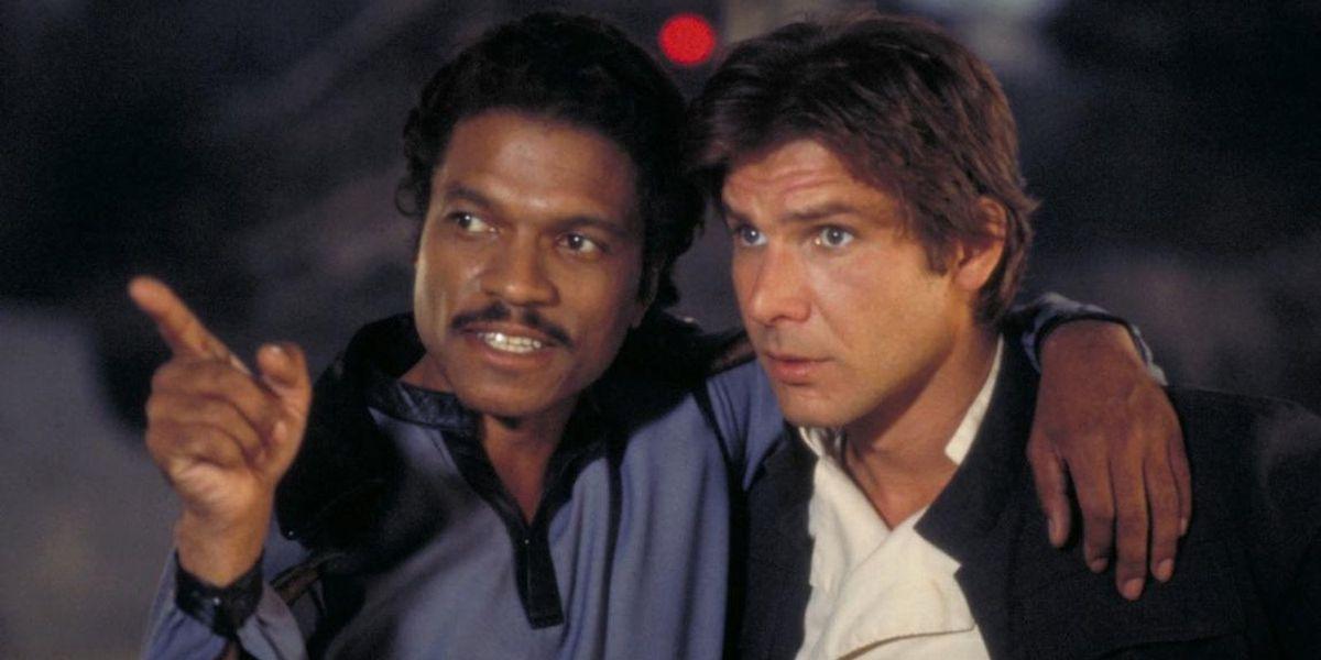 Lando Calrissian and Han Solo in Star Wars: The Empire Strikes Back