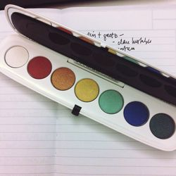 """I'm working on a Mother's Day market gift guide with our fashion market editor, Veronica Gledhill. The concept is based on """"TV Moms.""""  I see this eye palette from <b>Marc Jacobs Beauty</b> and instantly thought this would be the perfect, quirky, whimsical"""