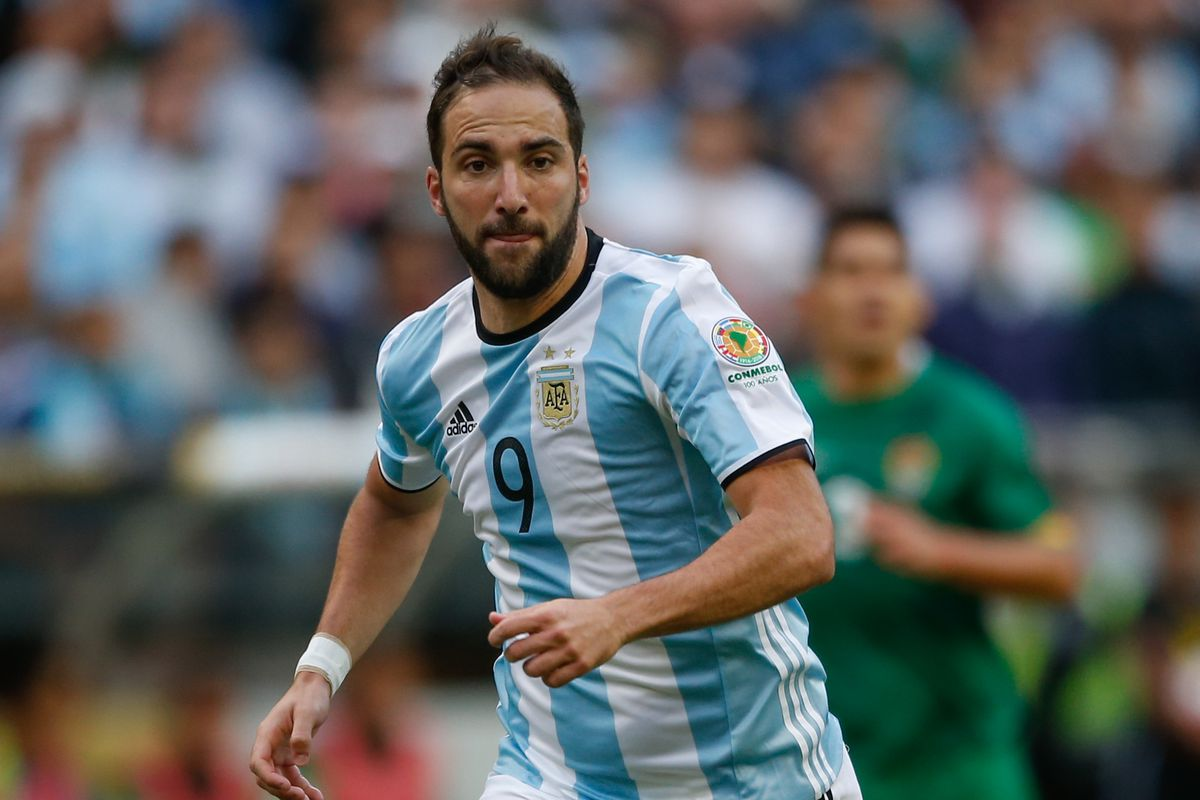 Gonzalo Higuain scores a first half brace for Argentina The