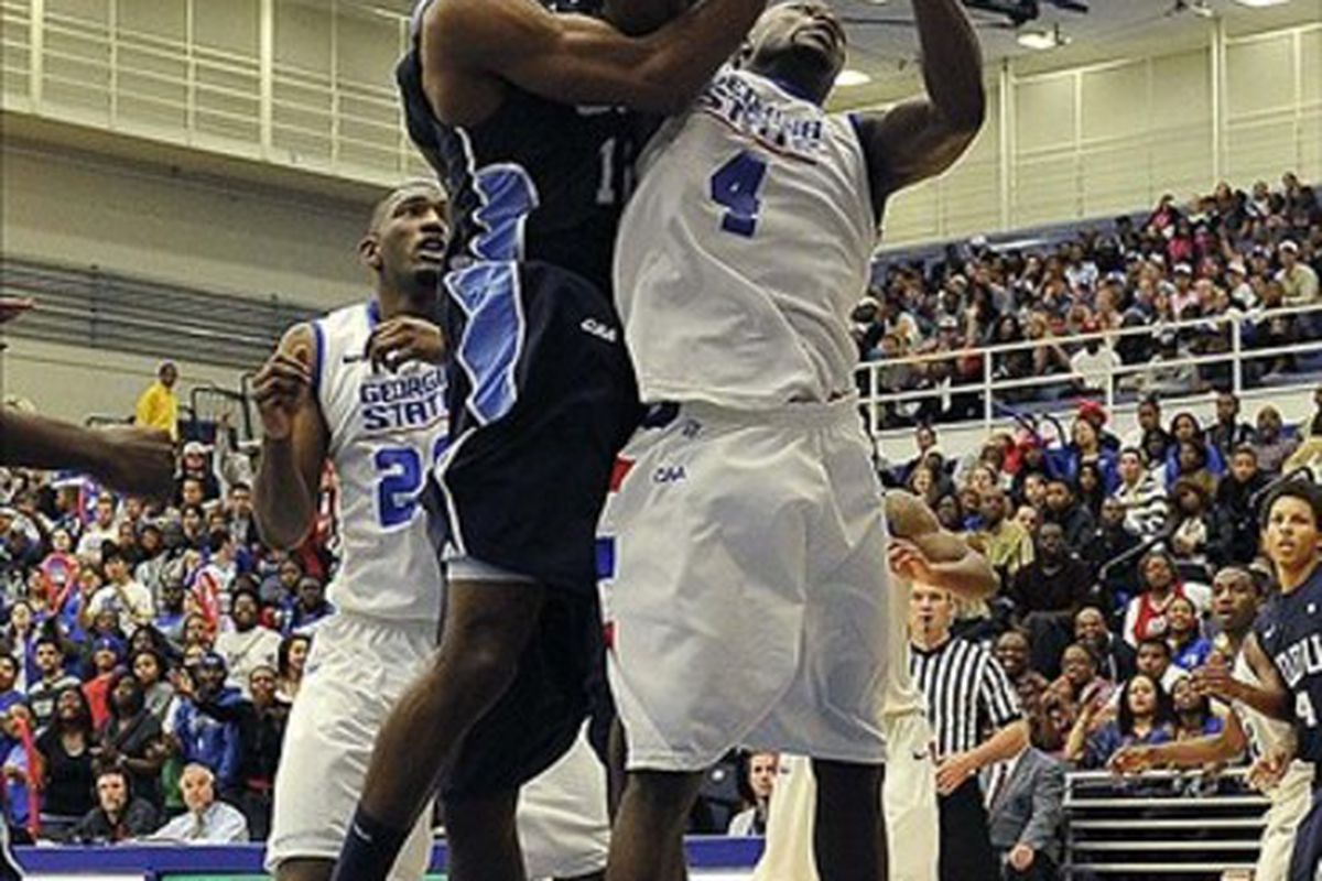 What you think you see is Old Dominion and Georgia State playing a basketball game. That isn't really happening.