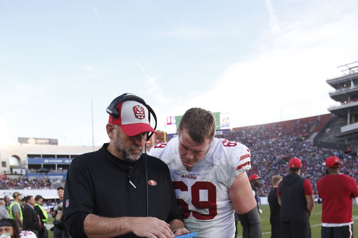 competitive price 4e857 a5aaf 49ers training camp: Kyle Shanahan talks Bosa's day off ...