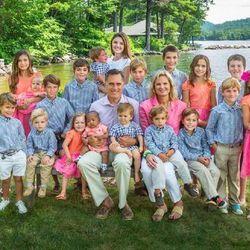 Mitt and Ann Romney with their grandchildren.