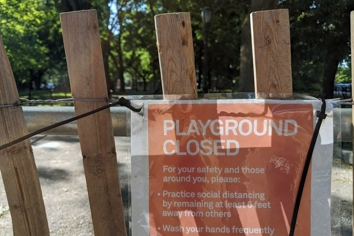 A playground in Fort Greene's Cuyler Gore Park, on June 9, 2020.