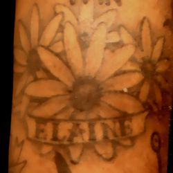 """""""Elaine is my mother's middle name and the flowers are Black-eyed Susans, which are the state flower of Maryland."""""""