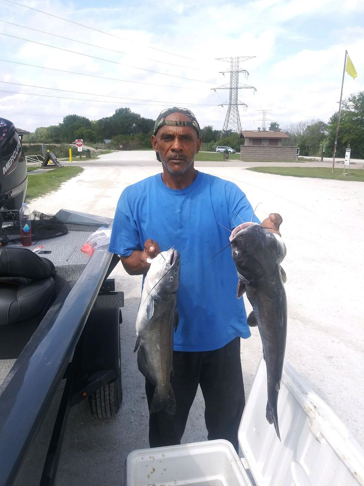 Dwayne Armstrong had a good day for big catfish and eater-sized ones at Braidwood Lake. Provided by BoRabb Williams