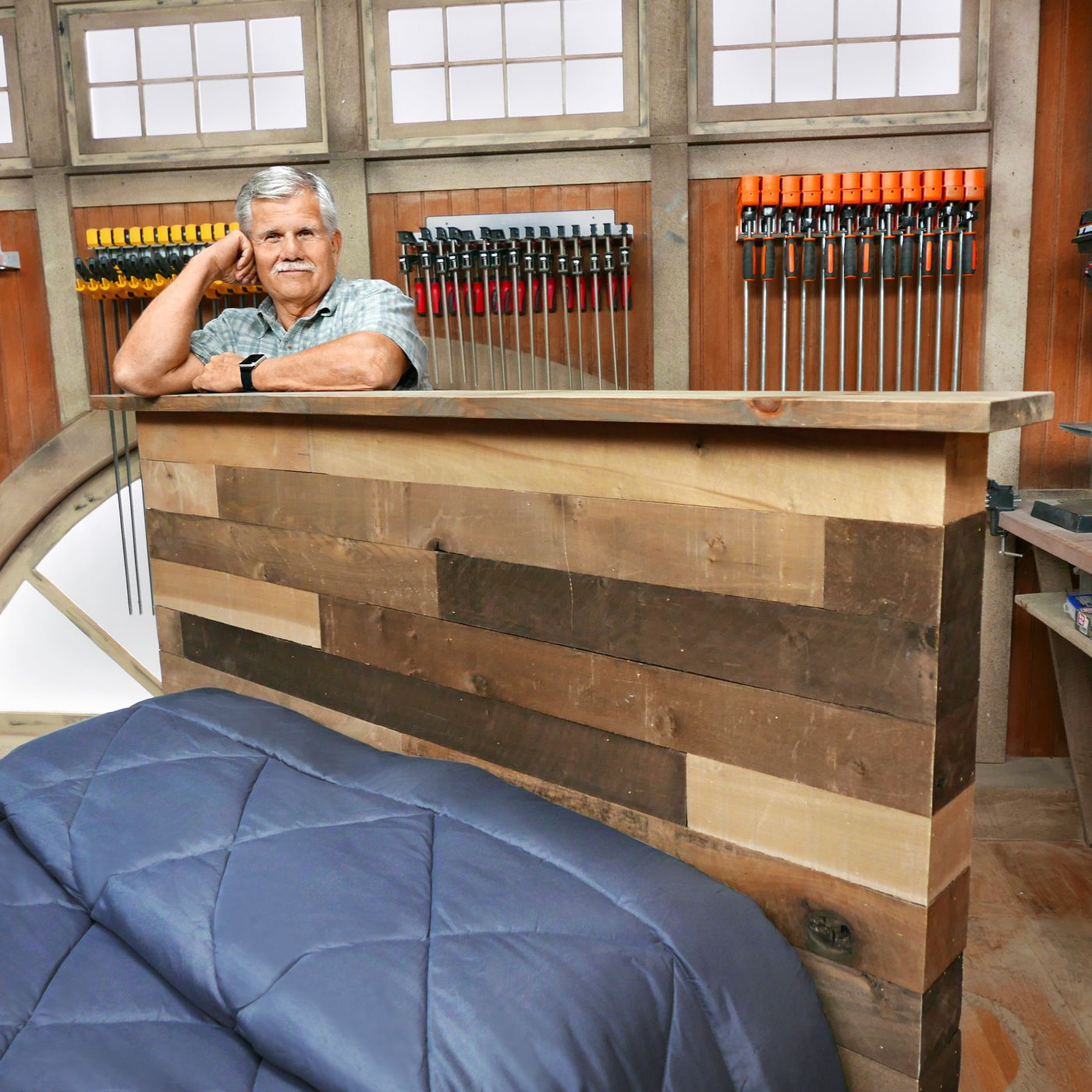 Diy Headboard Go Rustic In 10 Steps This Old House