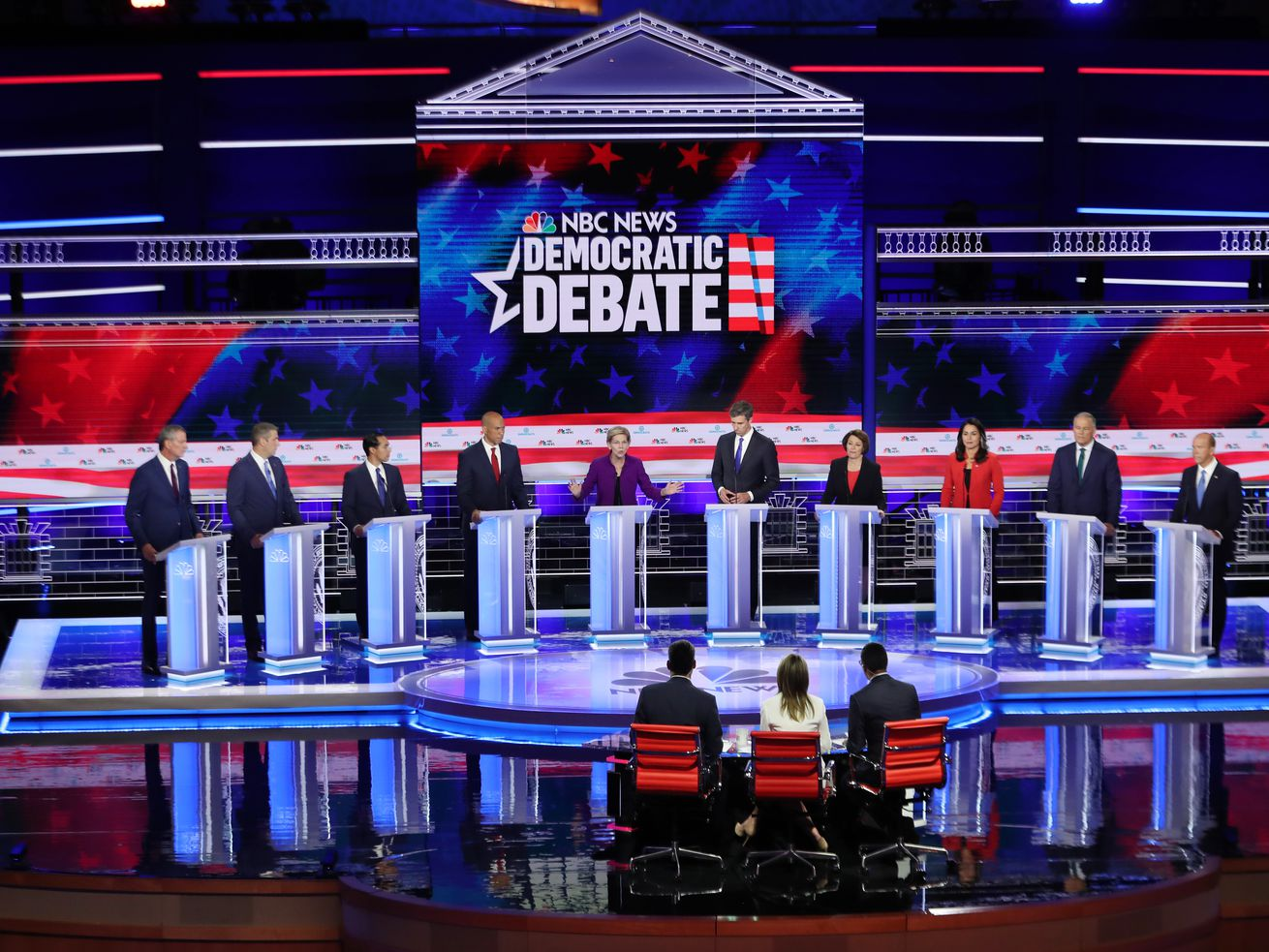 Democratic debate candidates on June 26, 2019.