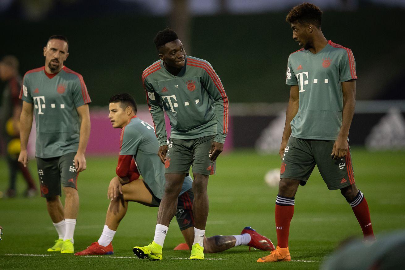 Alphonso Davies already impressing his teammates at Bayern Munich