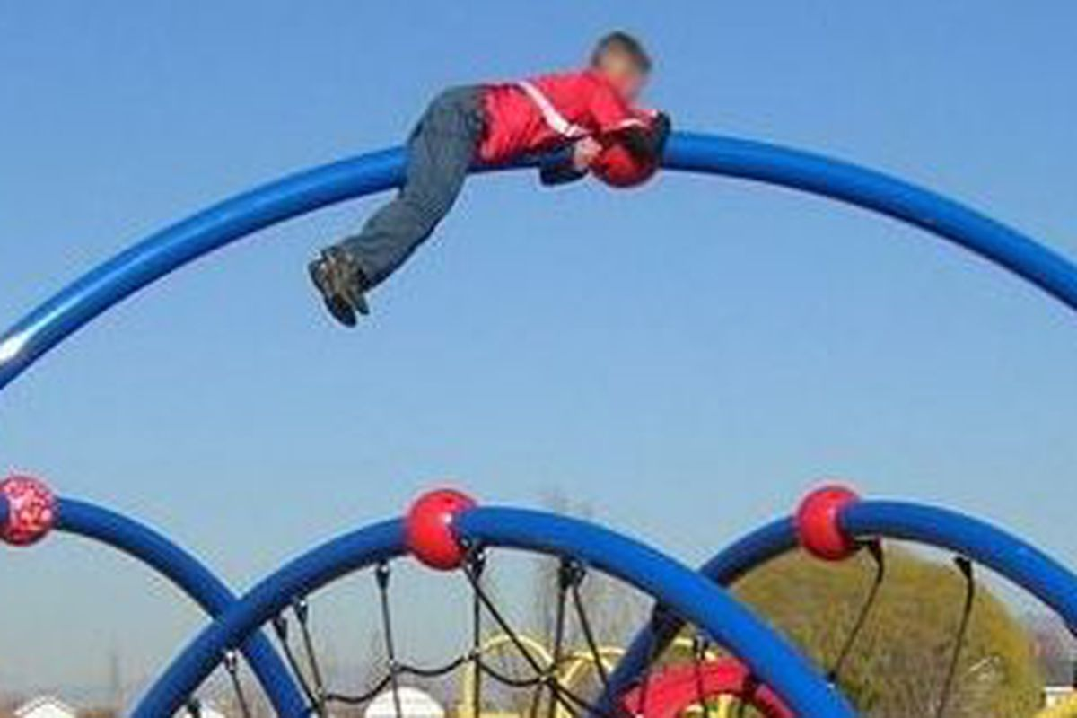 Every year, about 120 Colorado children are hospitalized because of falls from playground equipment. All photos from Tom Peeples.
