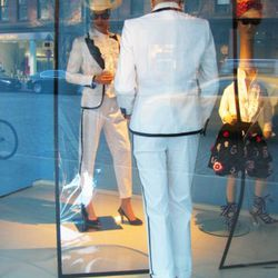 Even mannequins get insecure about wearing all white.