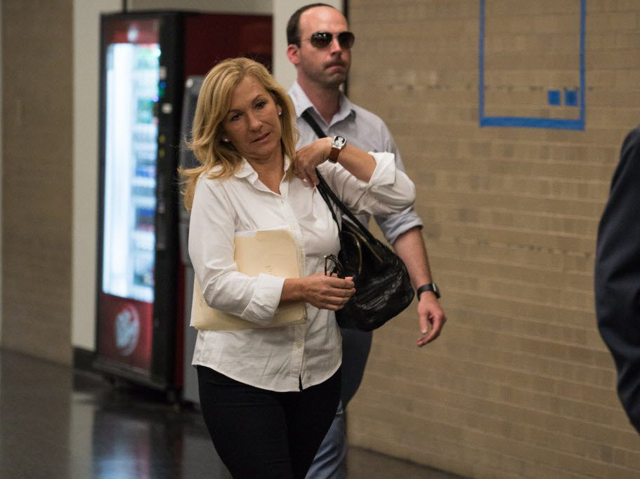 Antoinette Vigilante, former Chicago Board of Trade Chairman Patrick Arbor''s ex-wife, arrives for court at the Daley Center in May. File Photo.   Max Herman/For the Sun-Times
