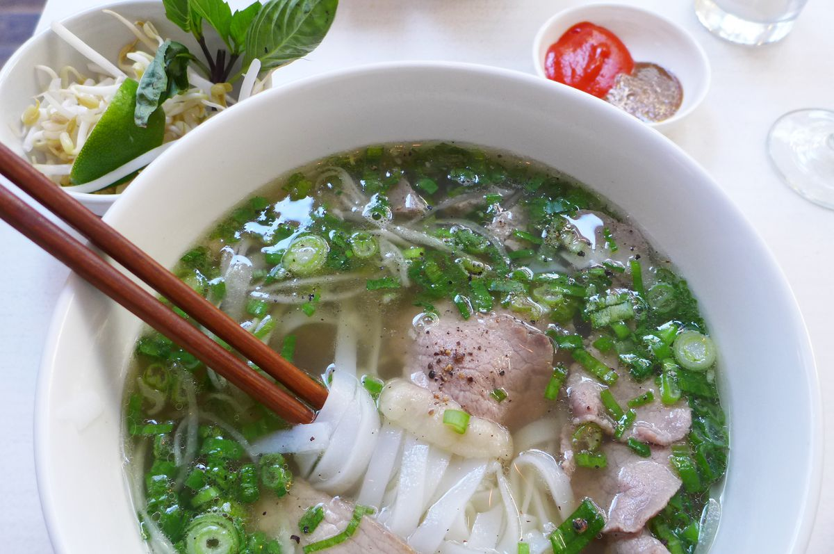 Deluxe pho offers four types of beef.