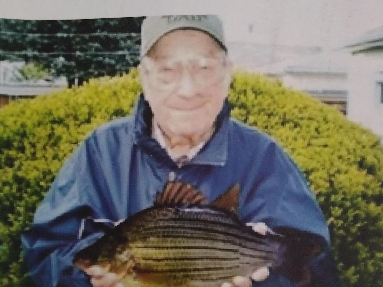 Casey Bloom with the yellow bass he caught on the Wolf River in Wisconsin in 2012 that broke a 40-year-old record for a yellow bass caught with a hook and line.