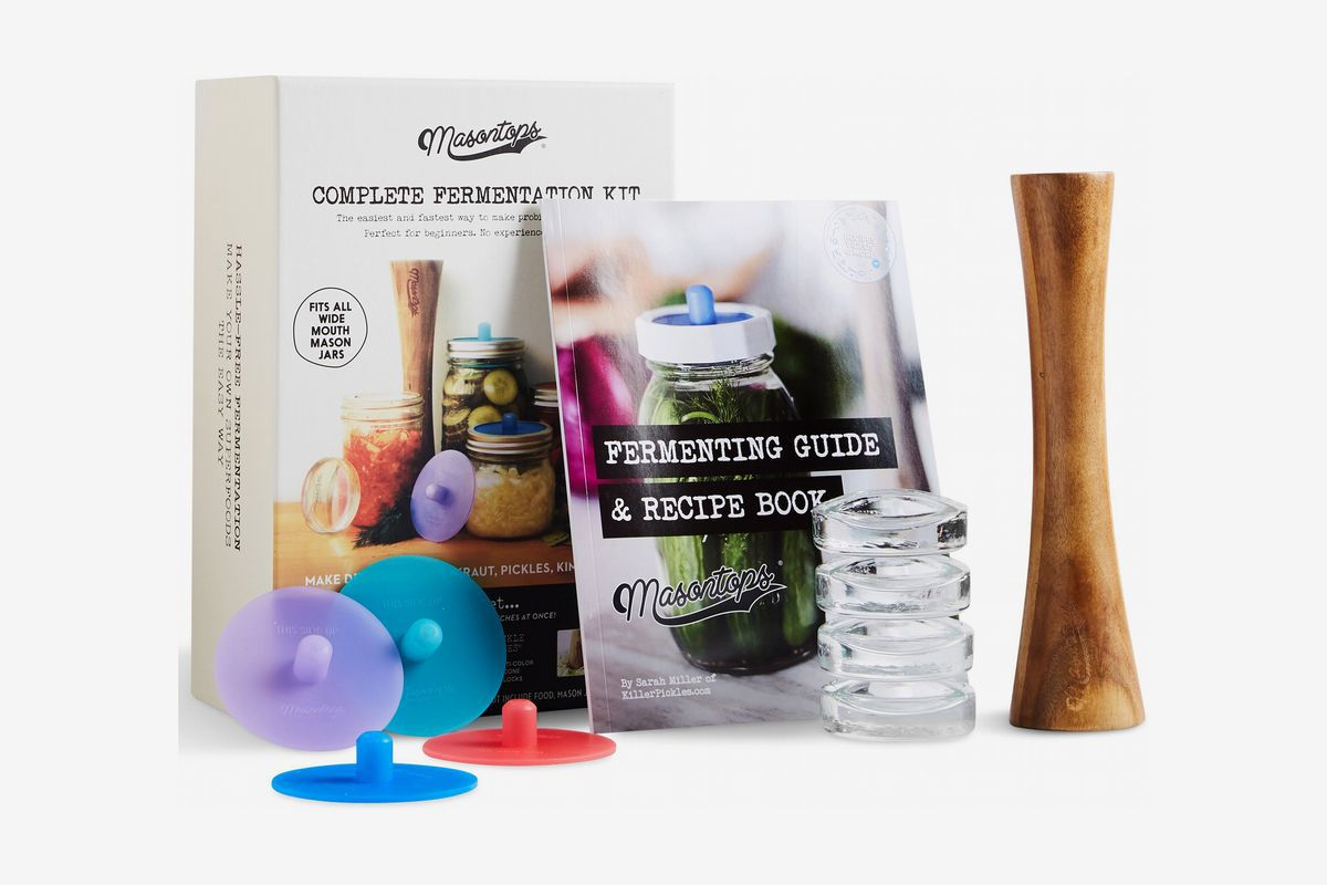 Lids, glass weights, and a recipe book
