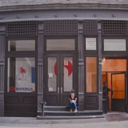The plan for the Superga boutique at 78 Crosby Street.