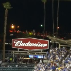 Dodger fans leaving early after the Cubs took a 10-2 lead
