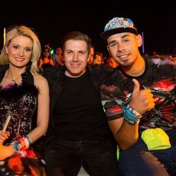 Holly Madison, Pasquale Rotella and Afrojack.