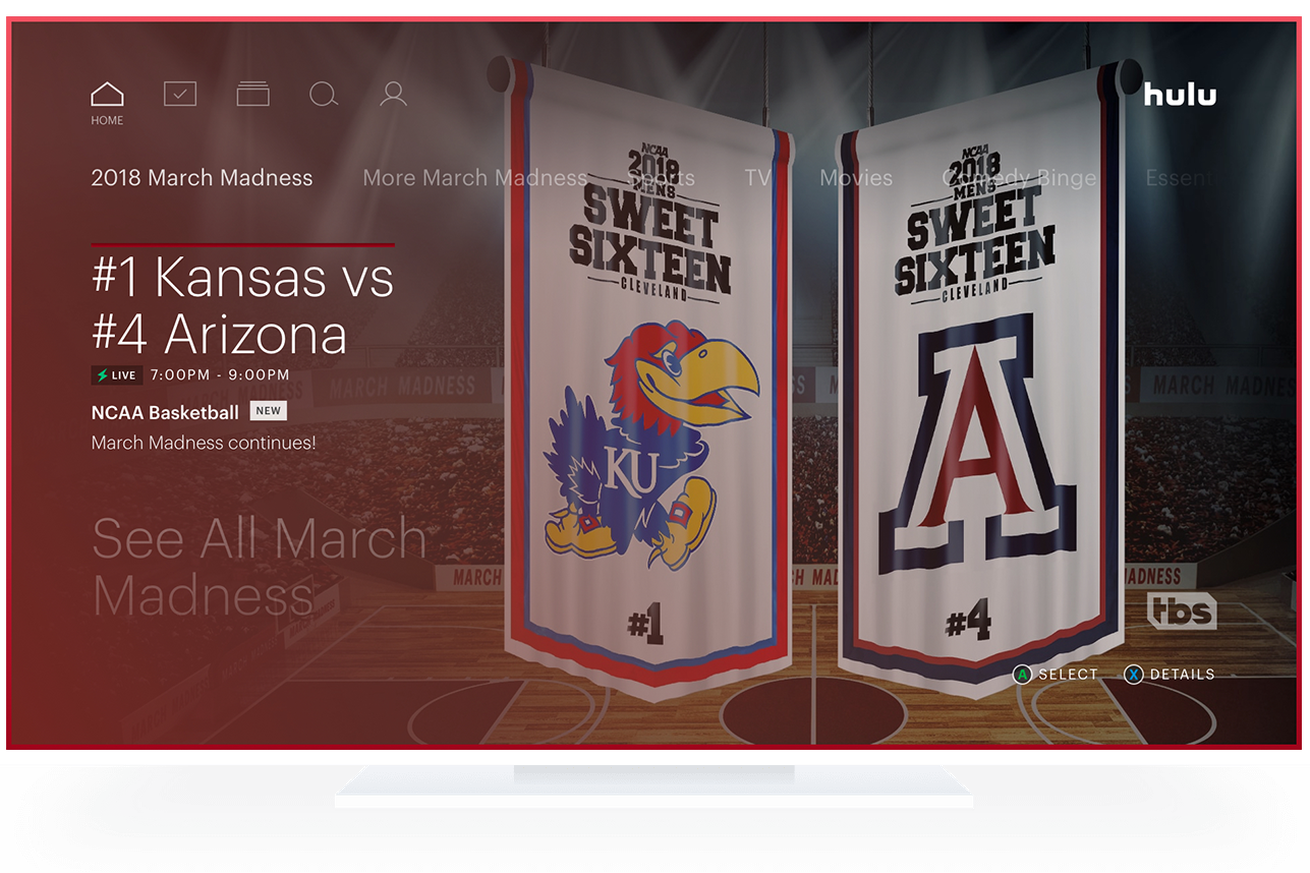 hulu with live tv adds game start notifications for march madness and more 60 fps channels