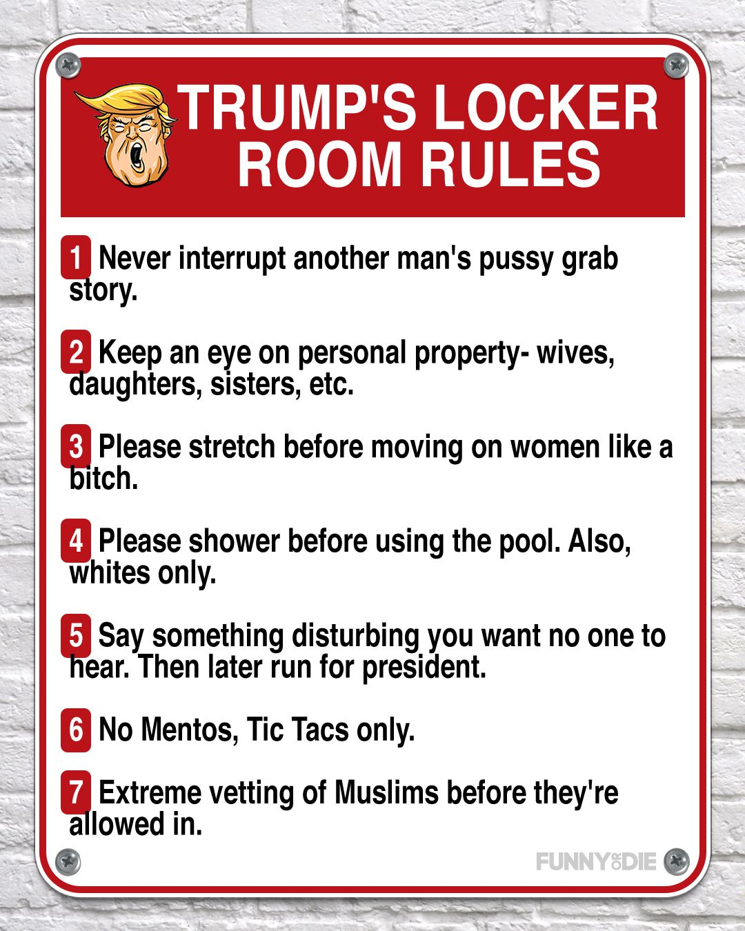 Rules Of Donald Trump's Locker Room - Funny Or Die