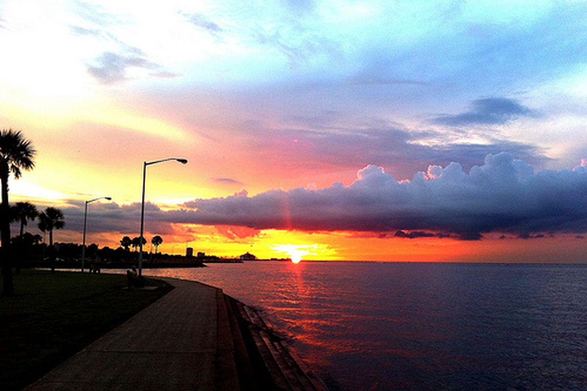 Sunset on Lake Pontchartrain.