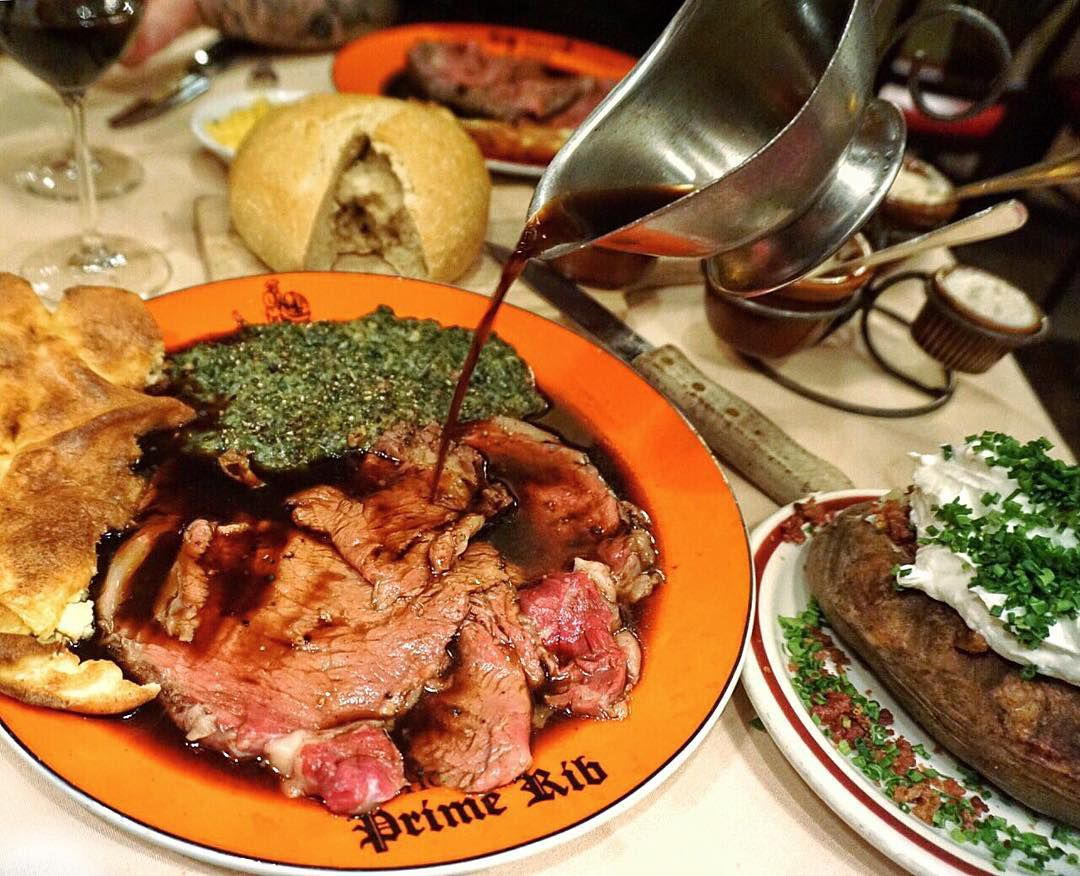 A meal at House of Prime Rib