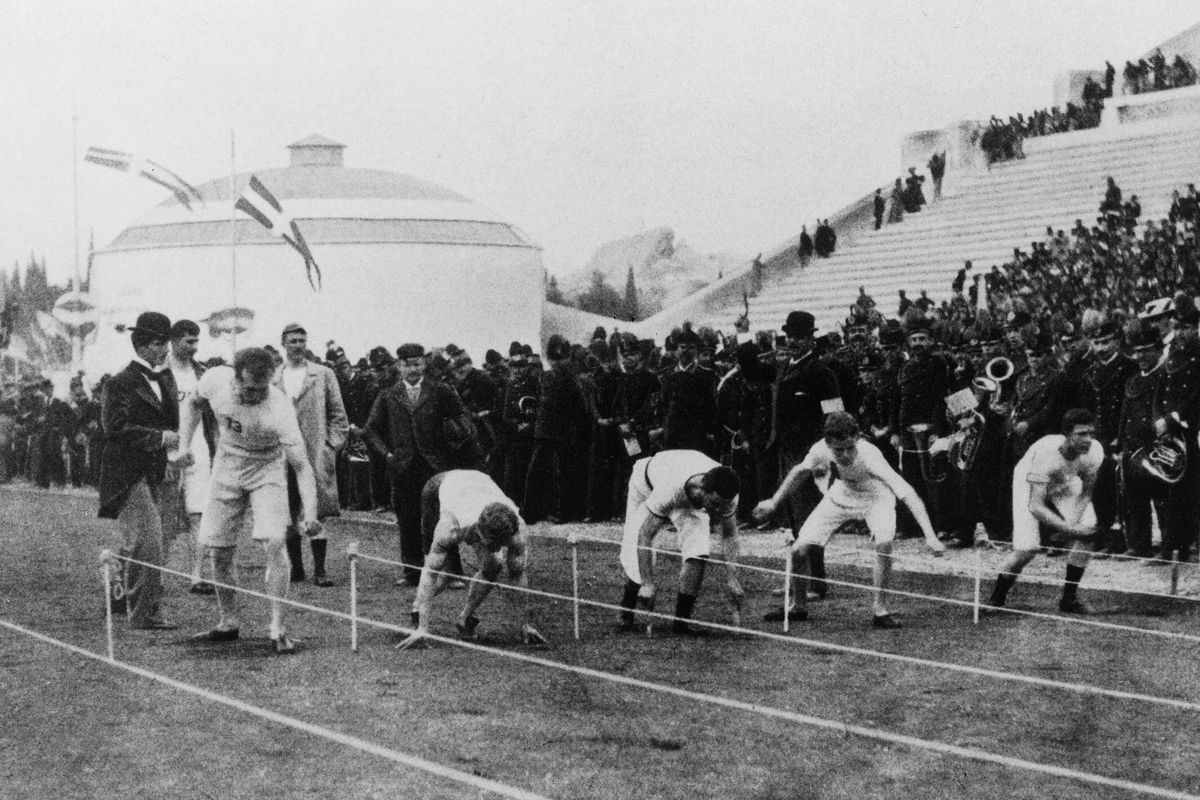 The start of the 100 meters sprint