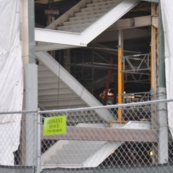New staircase in the northwest corner of the stands -