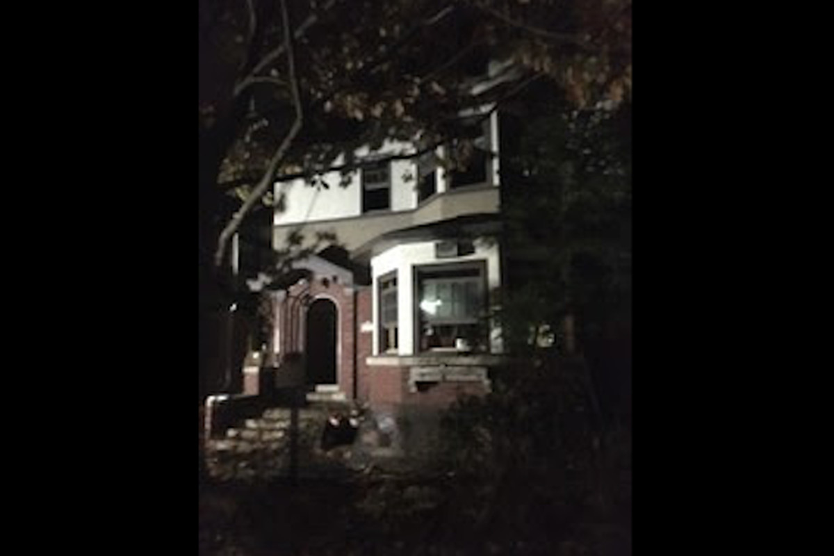 The Evanston home that caught fire Nov. 20, 2019, in the 1000 block of Mulford Street.