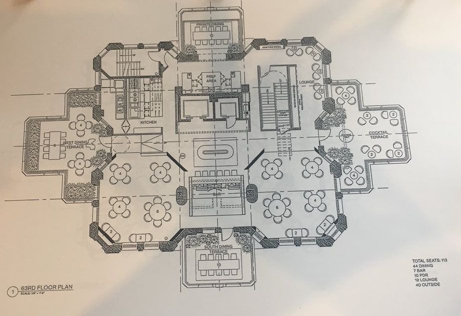 Proposed plan for 63nd floor