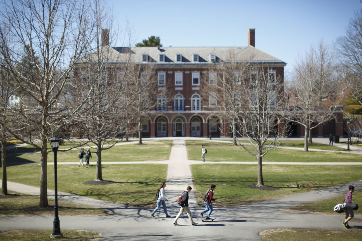 EXETER, NH - APRIL 14: The campus of Phillips Exeter Academy in Exeter, N.H. on April 14, 2016. (Photo by Dina Rudick/The Boston Globe via Getty Images)
