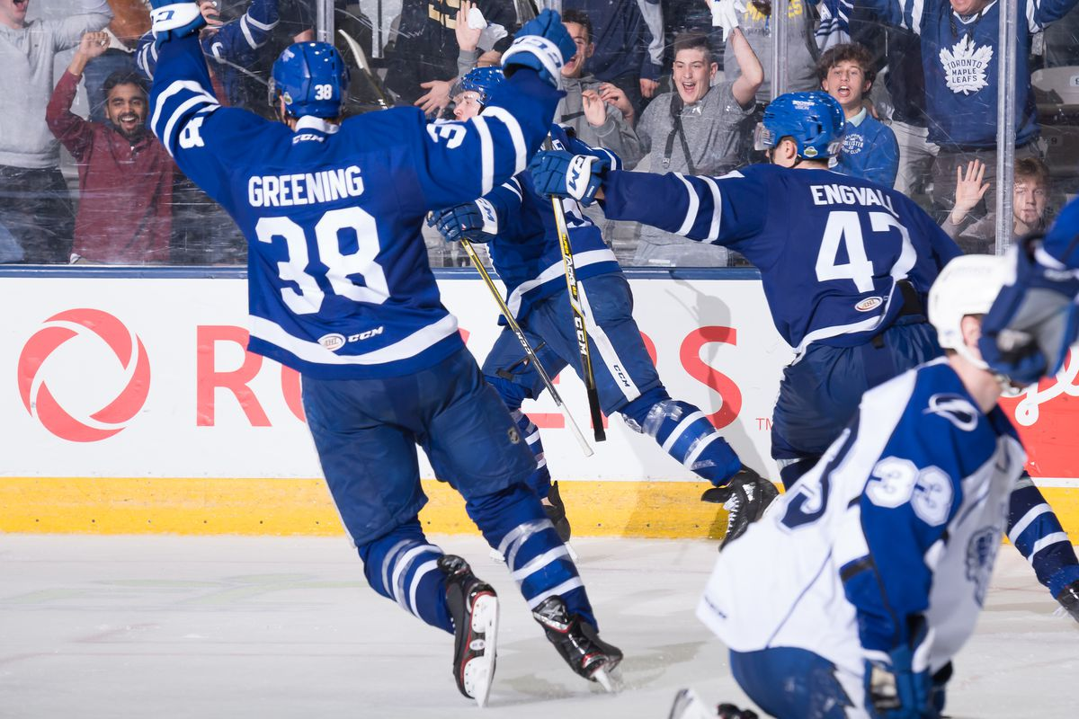 trevor moore and andreas johnsson star in toronto marlies win over