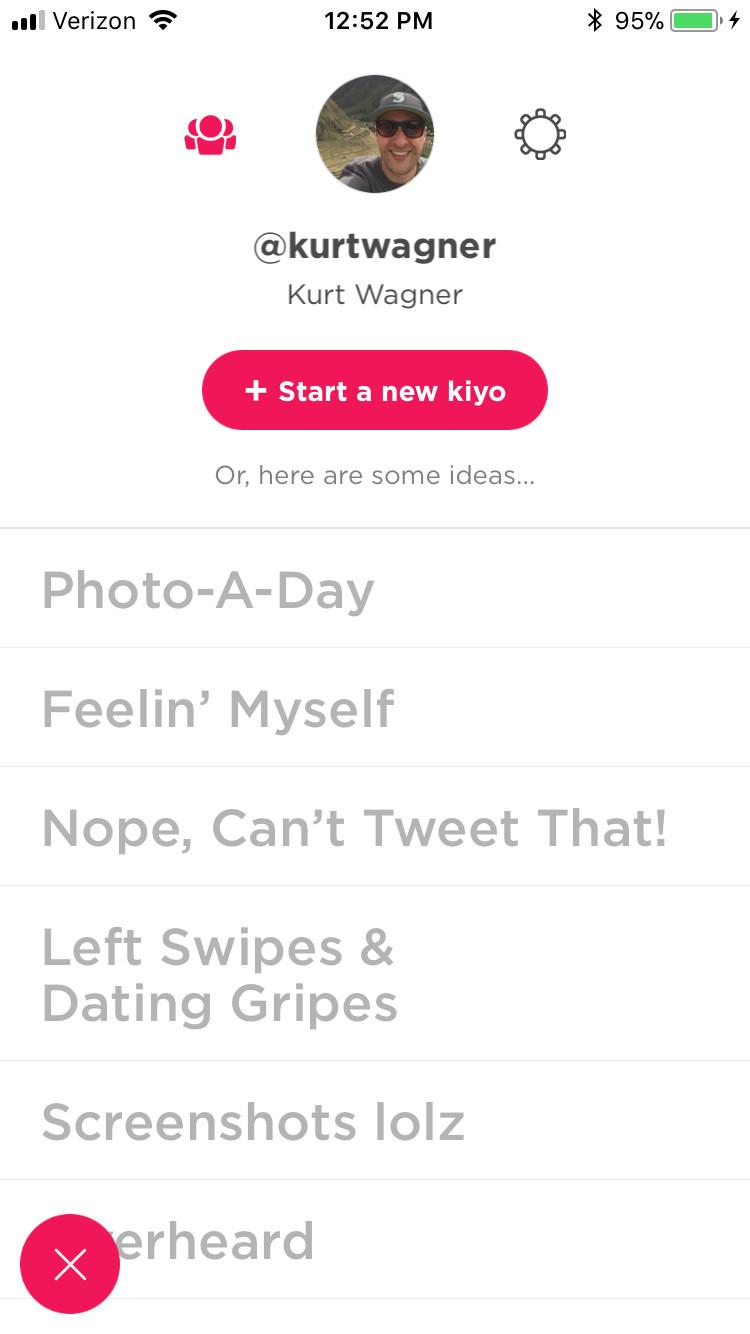 A screen shot of B.J. Novak's new app, Kiyo.