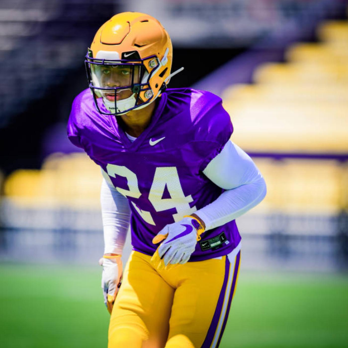 Beriden Fehoko LSU Tigers Football Jersey - Purple