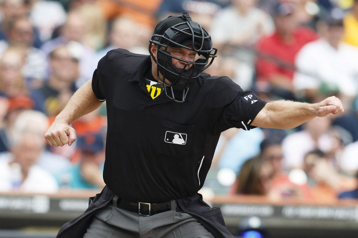 New MLB rule: No more idiotic punch-outs on called third strikes.