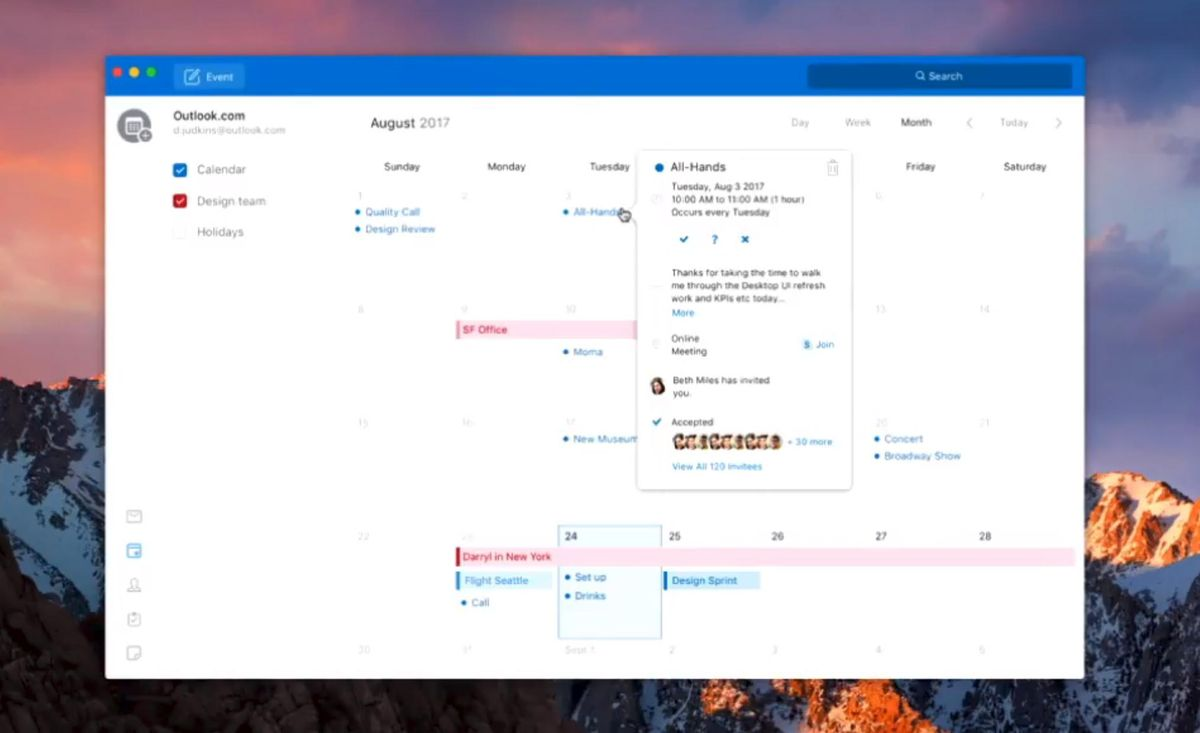 Outlook app for mac