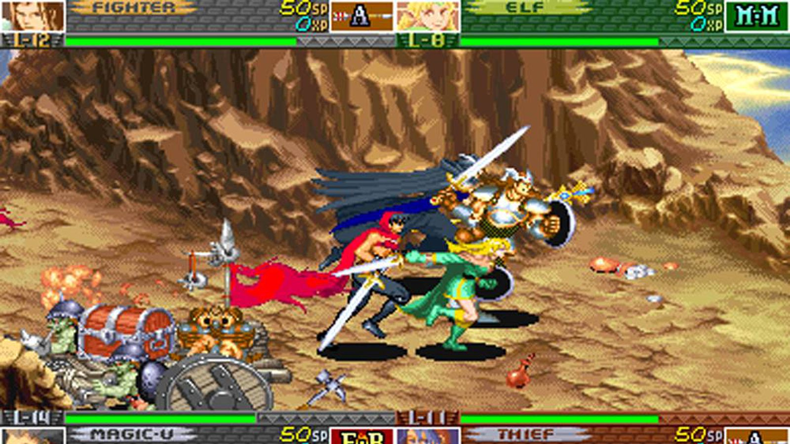 Capcom's arcade-era Dungeons and Dragons games listed for