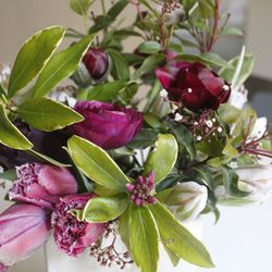 The dreamy floral arrangements ($55 for pickups and $120 for deliveries) from <strong>Natalie Bowen Designs</strong> can still be ordered until 7pm tonight. Known to incorporate the big, luscious blooms that every girl adores, Natalie always hooks you up.