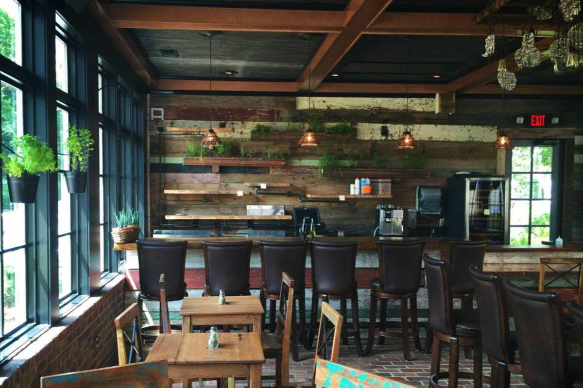 The bar at Homestead Manor
