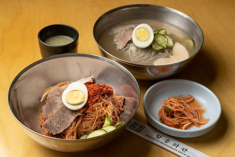Bibim and mul naengmyeon at Ham Hung