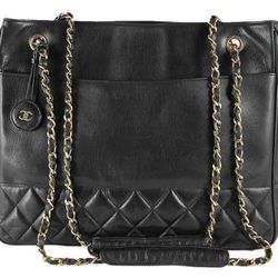 """<a href=""""http://f.curbed.cc/f/Portero_SP_RackedALL_080713_ChanelLambskin"""">Chanel Black Quilted Lambskin Charm Vintage Shopping Tote Bag - 20% OFF</a>"""