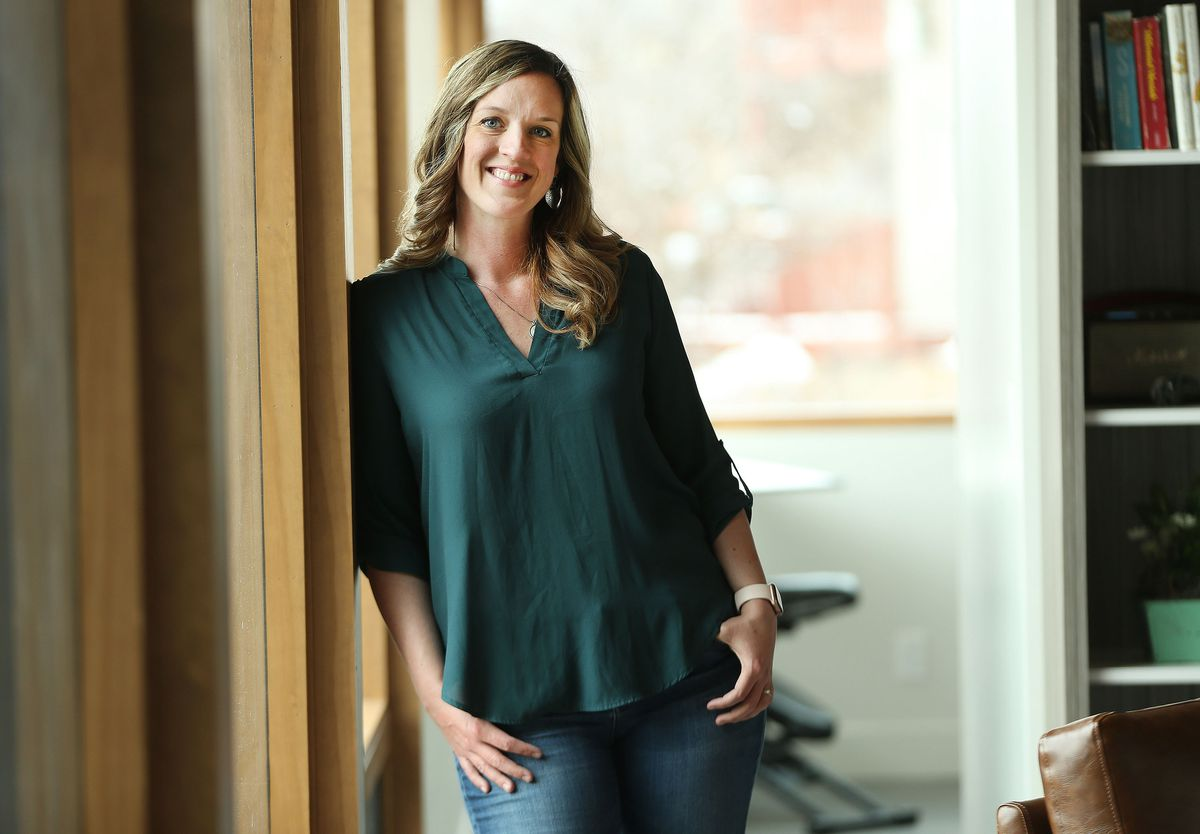 Amelia Wilcox is pictured in her home in Midway on Friday, March 12, 2021. World Trade Center Utah is bringing together women across the tech sector to put a face and figures to the impact of the female recession on the state's economy and tech scene.