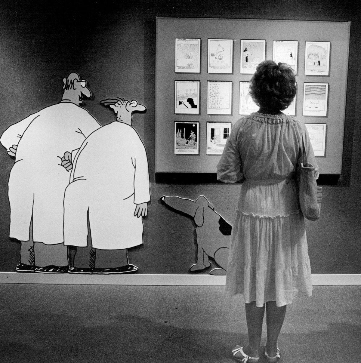 Far Side cartoons.